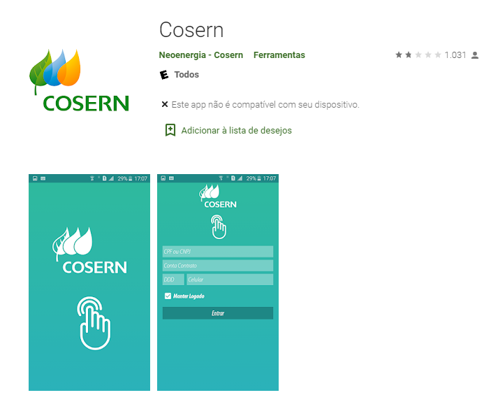 Aplicativo Cosern