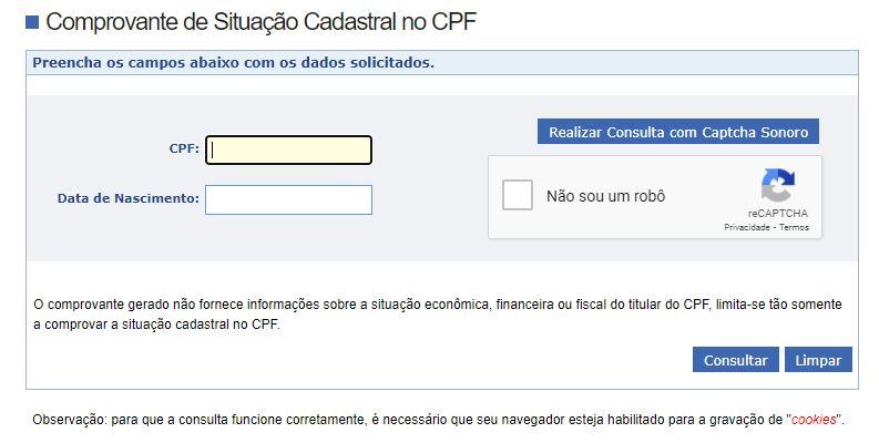 Como saber se o CPF está regular