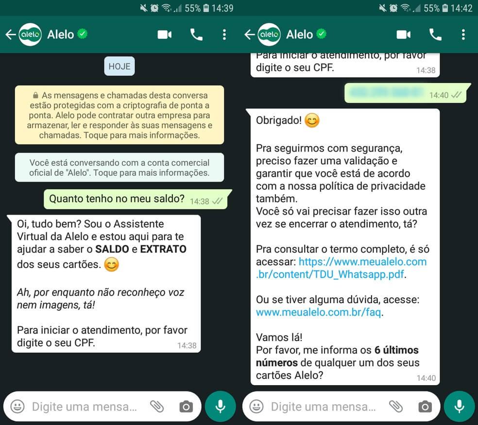 Consulta Saldo Alelo por WhatsApp